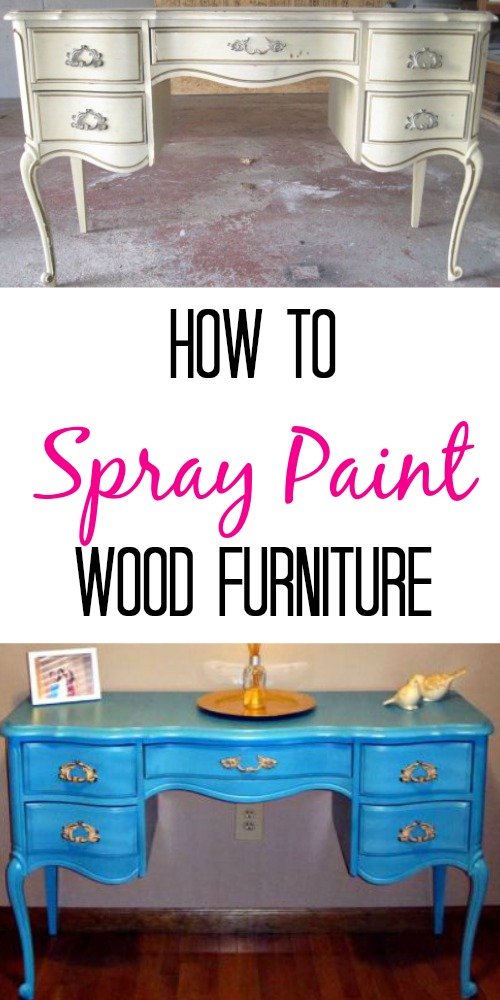 how to spray paint wooden furniture finding silver linings. Black Bedroom Furniture Sets. Home Design Ideas
