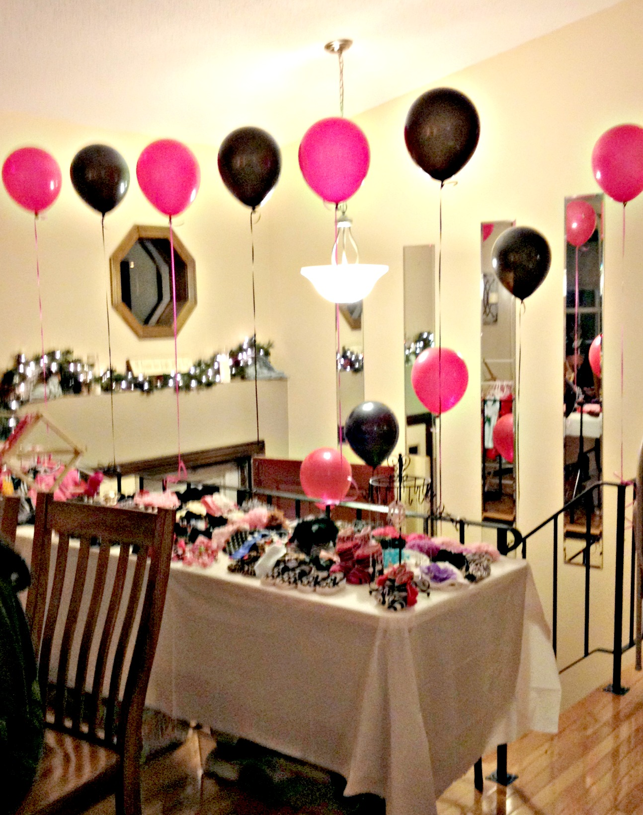 Hot pink and zebra baby shower decorations finding for Baby shower decoration online
