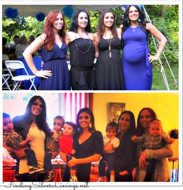 Best friends pregnant then a year later with babies