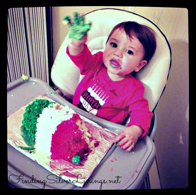 Italian Flag Smash Cake Smashed