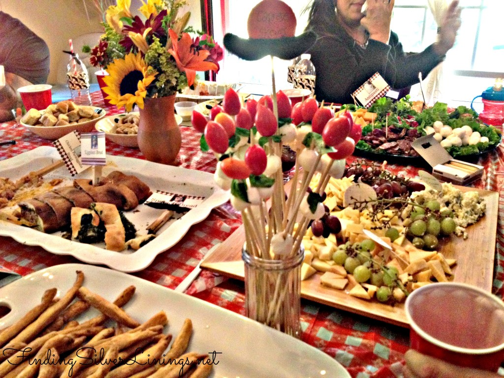 Italian theme appetizer spread