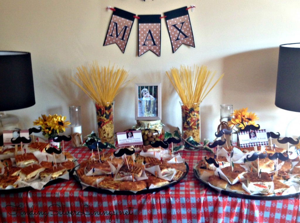 Italian themed panini party tablescape