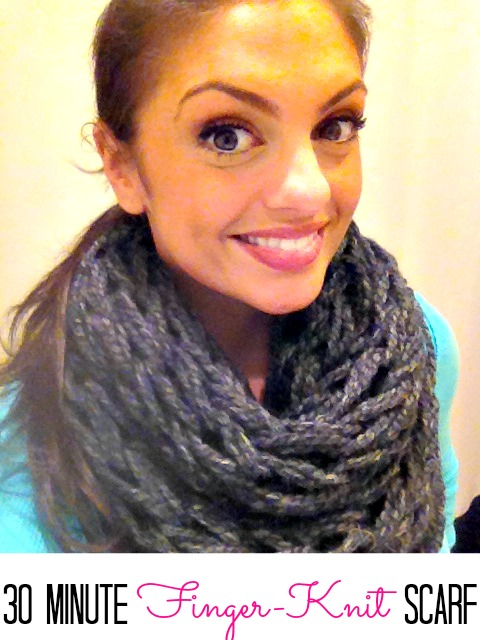 Finger Knit Infinity Scarves Finding Silver Linings