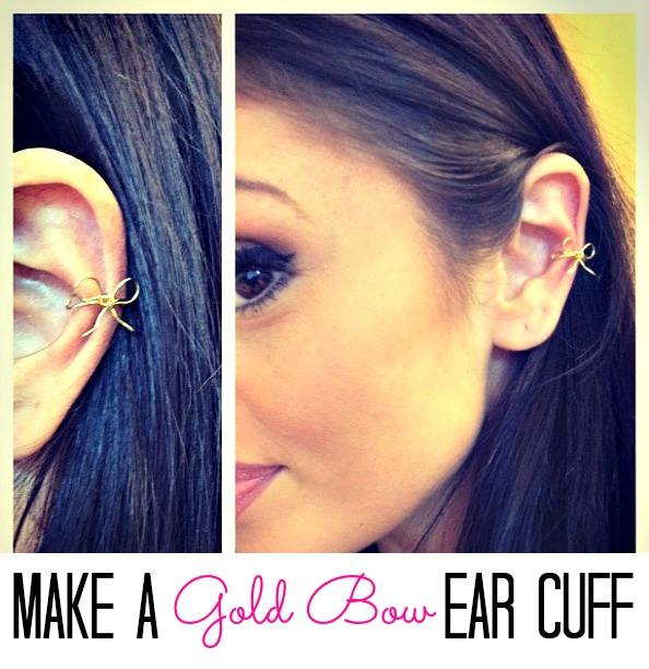 Make a gold bow ear cuff!  This is adorable!