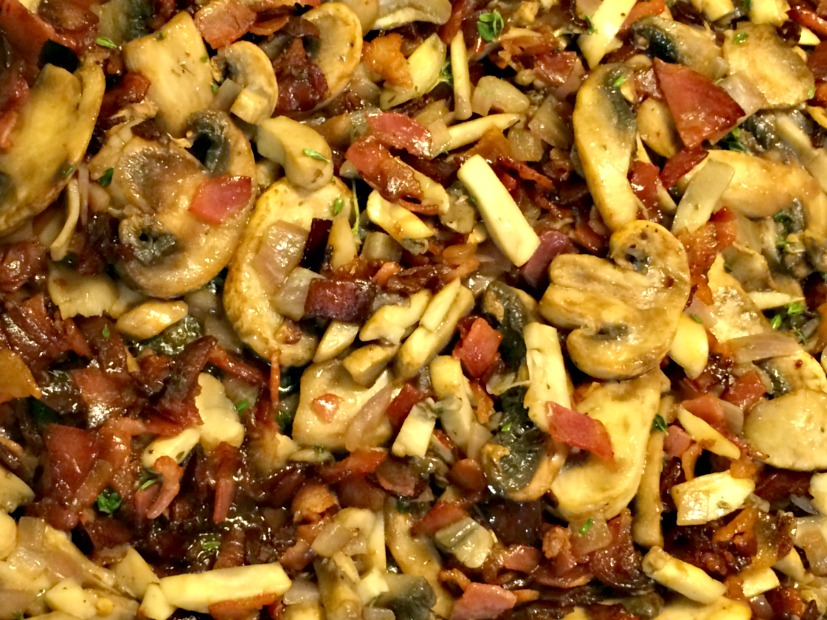 Mushrooms and pancetta | Finding Silver Linings