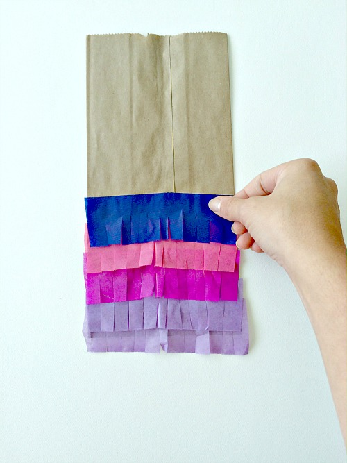 how to make an easy paper bag pinata decoration